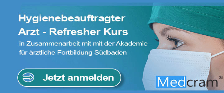 CME Fortbildung Hygienebeauftragter Arzt - Refresher Kurs