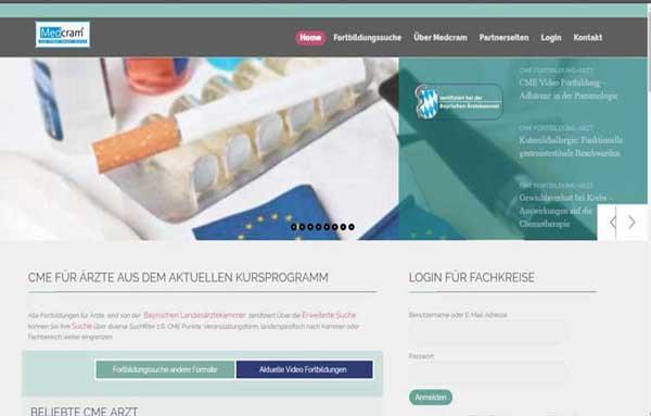 Online-Fortbildungsportal für zertifizierte, kostenfreie Fortbildungen für Ärzte, Apotheker/PTA