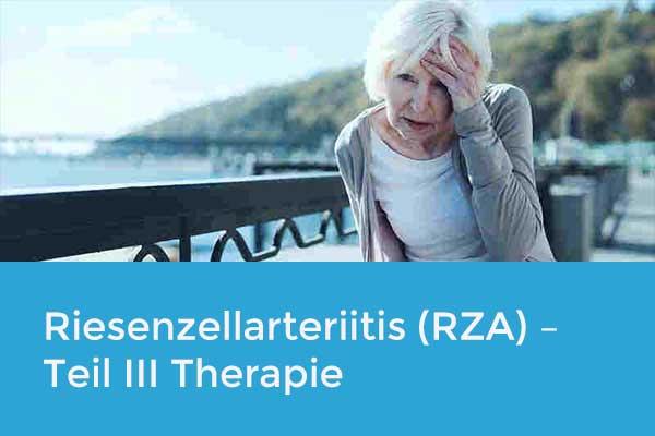 Die Riesenzellarteriitis (RZA) – Teil III Therapie