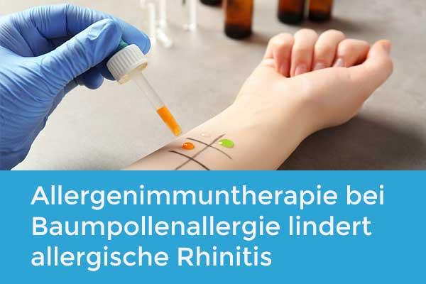 Allergenimmuntherapie bei Baumpollenallergie lindert allergische Rhinitis und reduziert Asthmarisiko